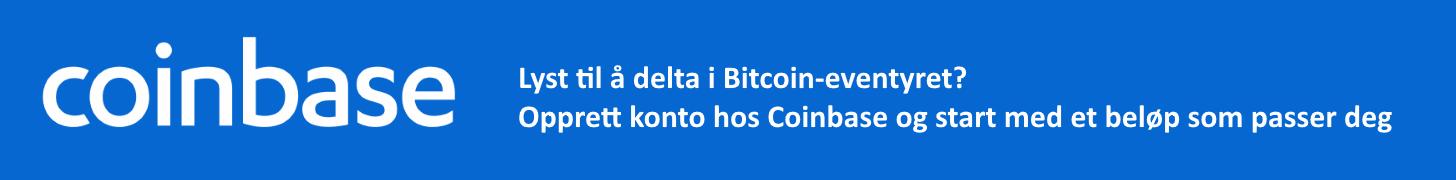 Coinbase.com - Lyst til å å delta i Bitcoin-eventyret? Opprett konto hos Coinbase og start med et beløp som passer deg. Bitcoin, Bitcoin Cash, Ethereum, LiteCoin.